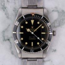 Rolex Submariner (No Date) Сталь 37mm Черный Без цифр