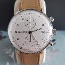 Junghans max bill Chronoscope nowość Automatyczny Chronograf Zegarek z oryginalnym pudełkiem i oryginalnymi dokumentami 027/4502.00