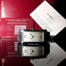 Cartier Tank (submodel) Платина 23mm Белый Aрабские