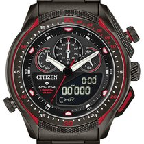Citizen Steel Quartz Black No numerals 46mm new Promaster Land