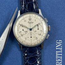 Breitling Steel 37.5mm Silver Arabic numerals