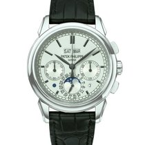 Patek Philippe Perpetual Calendar Chronograph White gold 40mm Silver United States of America, California, Beverly Hills