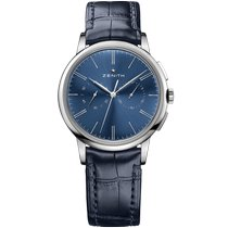 Zenith Elite Chronograph Classic Acero 42mm Azul Sin cifras