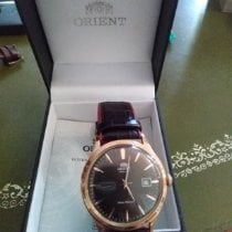 Orient Rose gold Automatic Black No numerals 40,5mm new Bambino