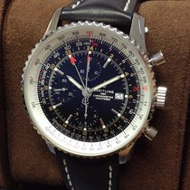 Breitling Navitimer GMT Steel 46mm Black No numerals