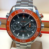 Omega Seamaster Planet Ocean Chronograph Steel 45.5mm Grey No numerals