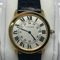 Cartier Yellow gold Quartz Silver Roman numerals 36mm pre-owned Ronde Solo de Cartier