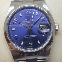 Rolex Steel Automatic Blue Arabic numerals 34mm pre-owned Oyster Perpetual Date