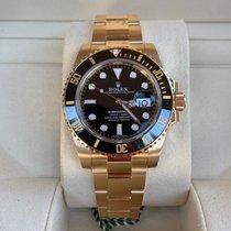 Rolex Oro amarillo Automático Negro Sin cifras 40mm nuevo Submariner Date
