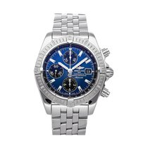 Breitling Chronomat Evolution pre-owned 43.7mm Blue Chronograph Date Fold clasp