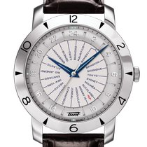 Tissot Heritage Navigator Steel 43mm Silver Arabic numerals United States of America, Massachusetts, Florence