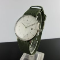 Junghans max bill Damen Сталь 32,7mm Белый Aрабские