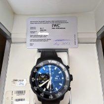 IWC Aquatimer Chronograph usados Negro Cronógrafo Fecha Caucho