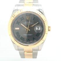 Rolex Datejust II Or/Acier 41mm Gris Romains