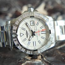Breitling Avenger II GMT Steel 43mm White