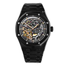Audemars Piguet Royal Oak Double Balance Wheel Openworked Staal 41mm Doorzichtig