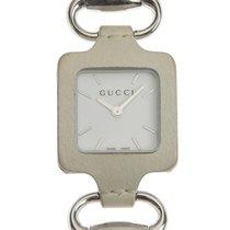Gucci usados Cuarzo 25mm Blanco Cristal de zafiro