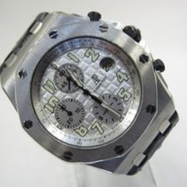 Audemars Piguet Royal Oak Offshore Chronograph Acier 42mm Blanc Arabes
