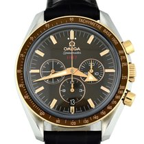 Omega Speedmaster Broad Arrow Gold/Steel 42mm Brown No numerals United States of America, Georgia, Atlanta