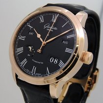 Glashütte Original Rose gold Automatic Black Roman numerals 42mm pre-owned Senator Perpetual Calendar