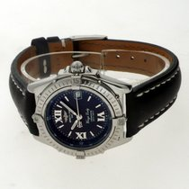 Breitling Wings Lady Steel 31mm Black Roman numerals