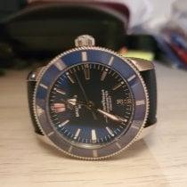 Breitling Superocean Héritage II Chronographe Acier 44mm Bleu Sans chiffres