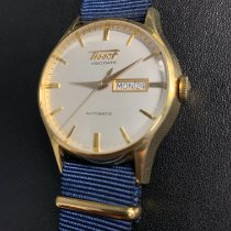 Tissot Heritage Visodate pre-owned 40mm Silver Date Weekday Leather