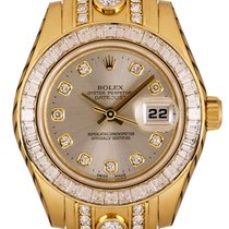 Rolex Pearlmaster Yellow gold 29mm Silver