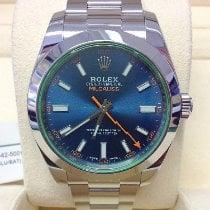 Rolex Milgauss Otel 40mm Albastru Fara cifre