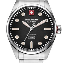 Swiss Military Acero 42mm Cuarzo 06-5345.7.04.007 nuevo