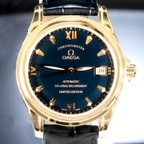 Omega De Ville Co-Axial Rose gold 37mm Blue Roman numerals