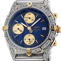 Breitling Chronomat pre-owned Blue Chronograph Date Steel