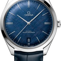 Omega De Ville Trésor Steel 40mm Blue No numerals United States of America, Iowa, Des Moines
