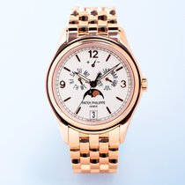 Patek Philippe Annual Calendar Or rose 39mm Blanc Arabes
