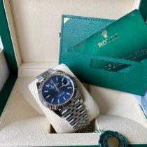 Rolex Datejust Witgoud 41mm Blauw Geen cijfers Nederland, Den haag