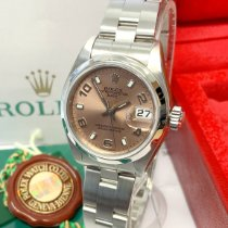 Rolex Oyster Perpetual Lady Date Acero 26mm Rosa Arábigos