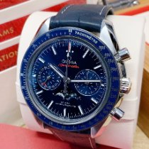 Omega Speedmaster Professional Moonwatch Moonphase Steel Blue No numerals