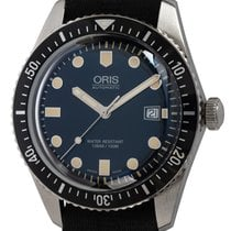 Oris Steel Automatic Blue 42mm pre-owned Divers Sixty Five