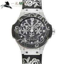 Hublot Automatic Black 41mm pre-owned Big Bang Broderie