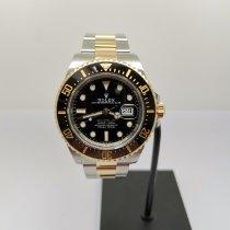 Rolex Sea-Dweller pre-owned 43mm Black Date Gold/Steel