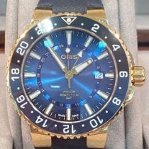 Oris Yellow gold Automatic Blue No numerals 43,50mm new
