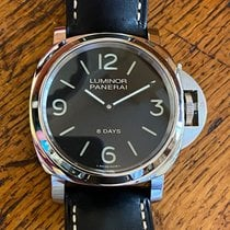 Panerai Luminor Base 8 Days Acero 44mm Negro Arábigos
