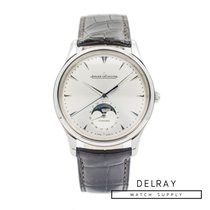 Jaeger-LeCoultre Master Ultra Thin Moon pre-owned 39mm Moon phase Date Crocodile skin