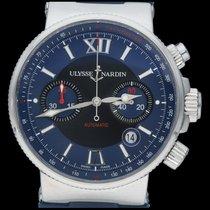 Ulysse Nardin Marine Chronograph Acier 41mm Bleu Romains