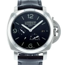 Panerai Luminor 1950 3 Days GMT Power Reserve Automatic pre-owned 44mm Black Date Leather