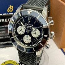 Breitling Superocean Héritage II Chronographe Сталь 44mm Черный Без цифр