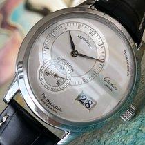 Glashütte Original PanoMaticDate Steel 39mm Silver No numerals
