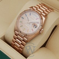 Rolex Day-Date 36 Rose gold 36mm Pink No numerals