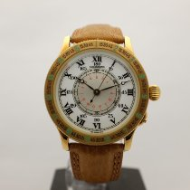 Longines Lindbergh Hour Angle Yellow gold 38mm White