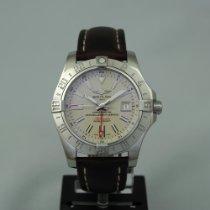 Breitling Avenger II GMT Steel 43mm White No numerals
